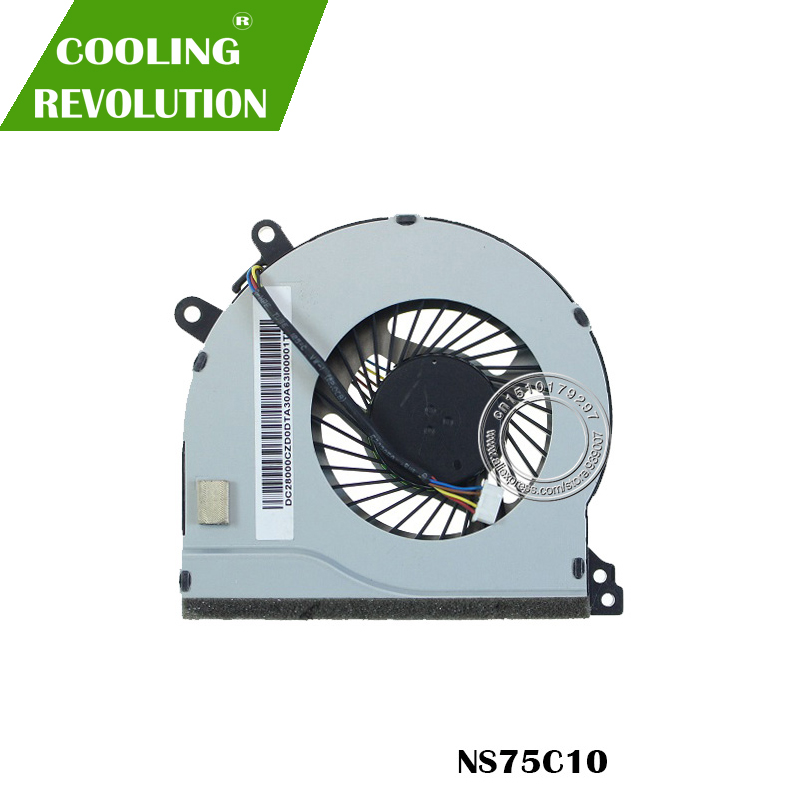 Original New For Lenovo IdeaPad 310-14IAP 310-14ISK 510-14 310-15 510-15IKB CPU Cooling Fan NS75C01 DFS561405PL0T FHKB