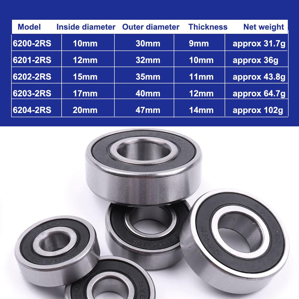 1-20pcs Deep Groove Ball Bearing 6900ZZ to 6905ZZ Metal Double Shielded Seal