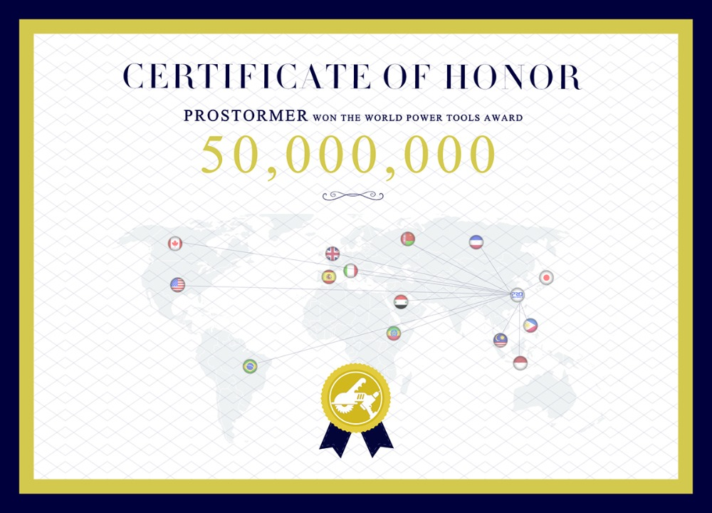 Prostormer Certificate of Honor