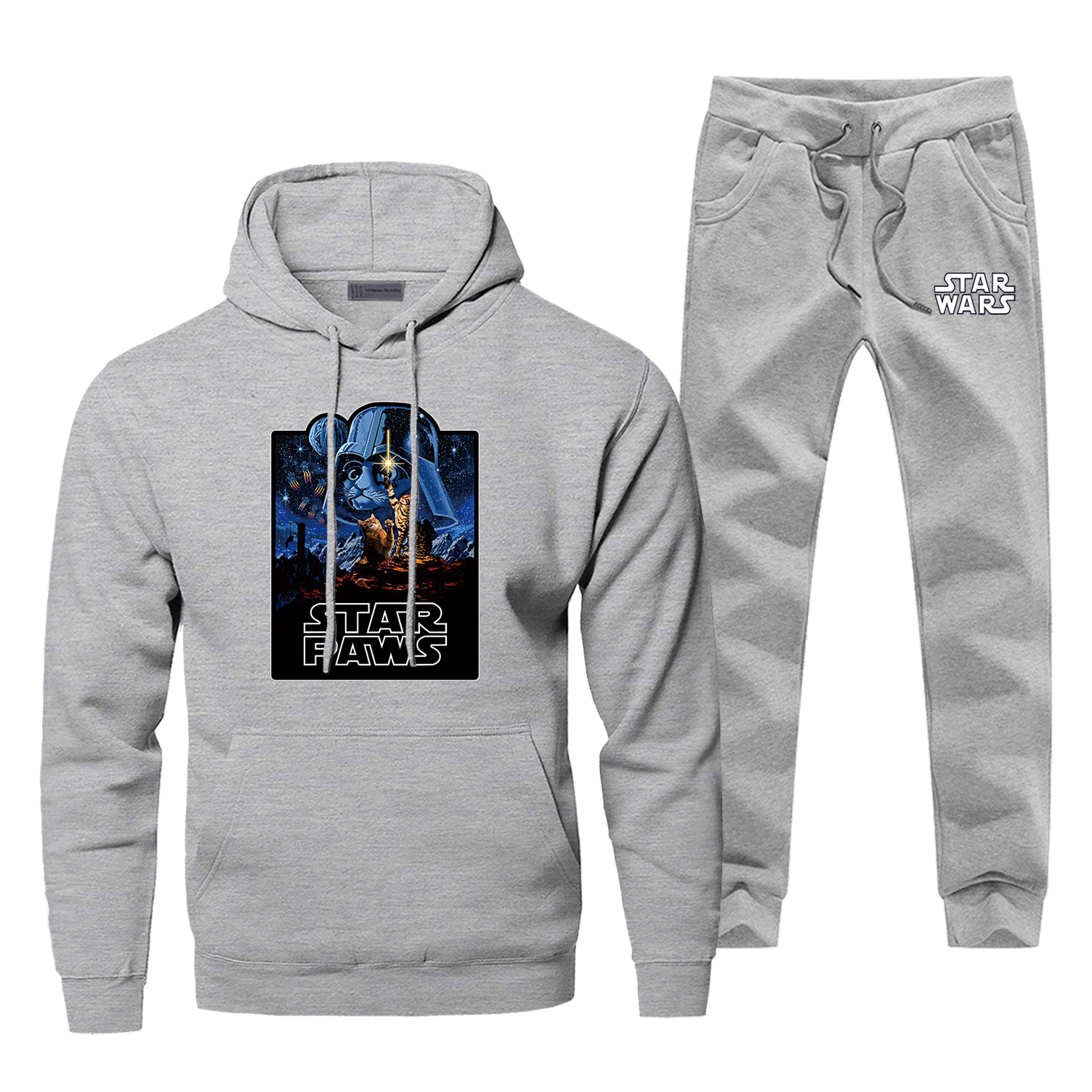 Star Wars Darth Vader Men Hoodies Sweatshirts Pants Sets Hooded Hoodie Suit Tracks 2 PCS Hoody Selfie Stormtrooper Pullover Set
