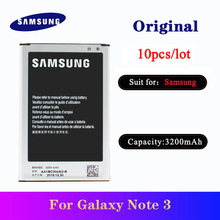 10pcs/lot Original Battery For Samsung Galaxy Note 3 N900 N9006 N9005 N9000 N900A N900T N900P Phone Batteria B800BE 3200mAh protective clear screen protector for samsung galaxy note 3 n9000 n9005 transparent 3 pcs