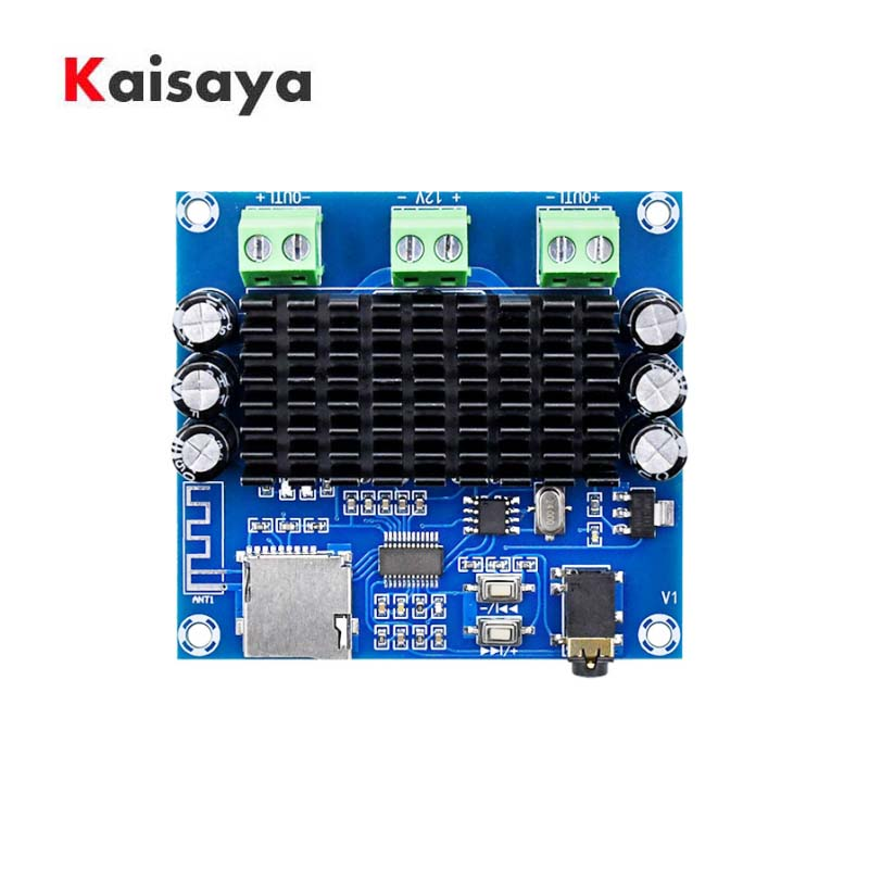 TDA7297 Bluetooth 5.0 Digital Power Amplifier Board 15W *2 Wireless Stereo Audio AMP Module Support TF Card AUX C5-017