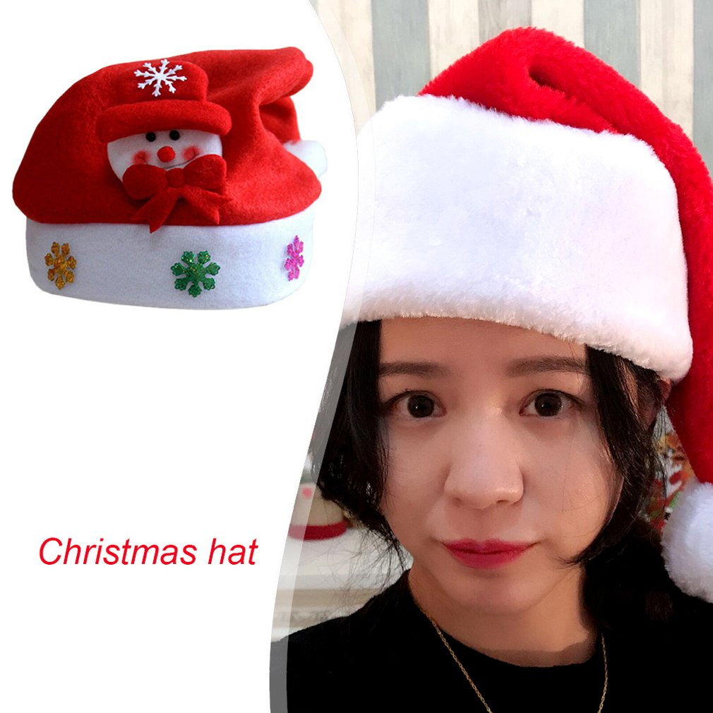 Christmas Hats Festival Decoration Hats Christmas Tree Decoration DIY Gift Caps Indoor Decorations