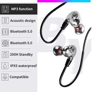 Image 5 - 最新のワイヤレスbluetooth V5.0イヤホン3Dステレオヘッドセットネックバンドスポーツットヘッドホンイヤホンイヤフォン低音in 耳のmicとすべて電話