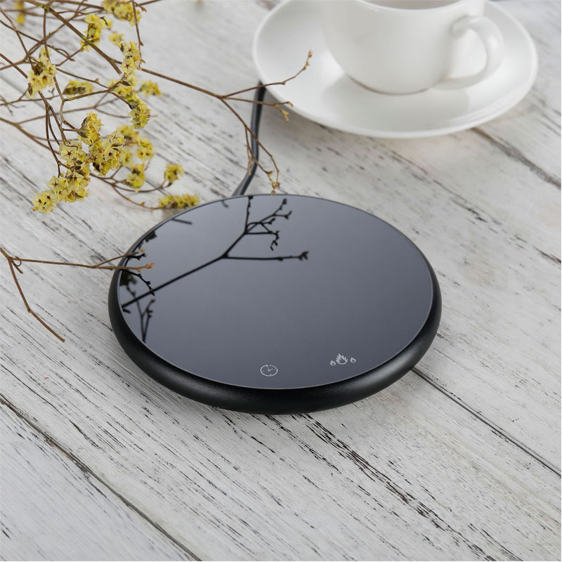 Mini Smart Coaster Cup Electric Heater Coffee Mug Water Bottle Warmer For Home Office With Timer 2 Temperatures Settings
