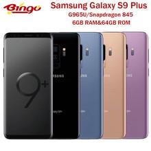 Samsung galaxy s9 + s9 mais g965u1 g965u desbloqueado 4g android celular octa núcleo snapdragon 845 6.2