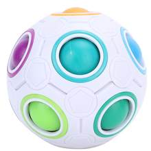 Magic Rainbow Ball Puzzle Toy Baby kids Rainbow Ball Speed Cube Fidget Toy Children Educational Toys(China)