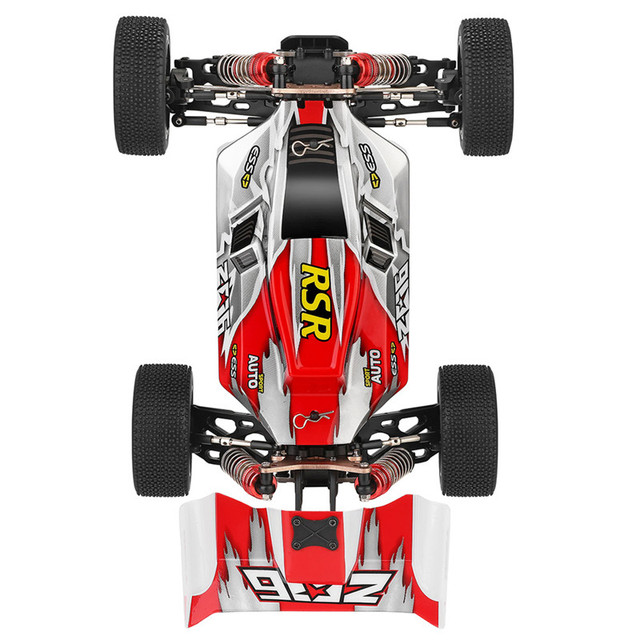 Wltoys 1:14 144001 High Speed Crawler 2.4G 4WD 60km/h Drifting RC Vehicle RC Car Remote Control Car Model Toys w/ 3 Batteries 3
