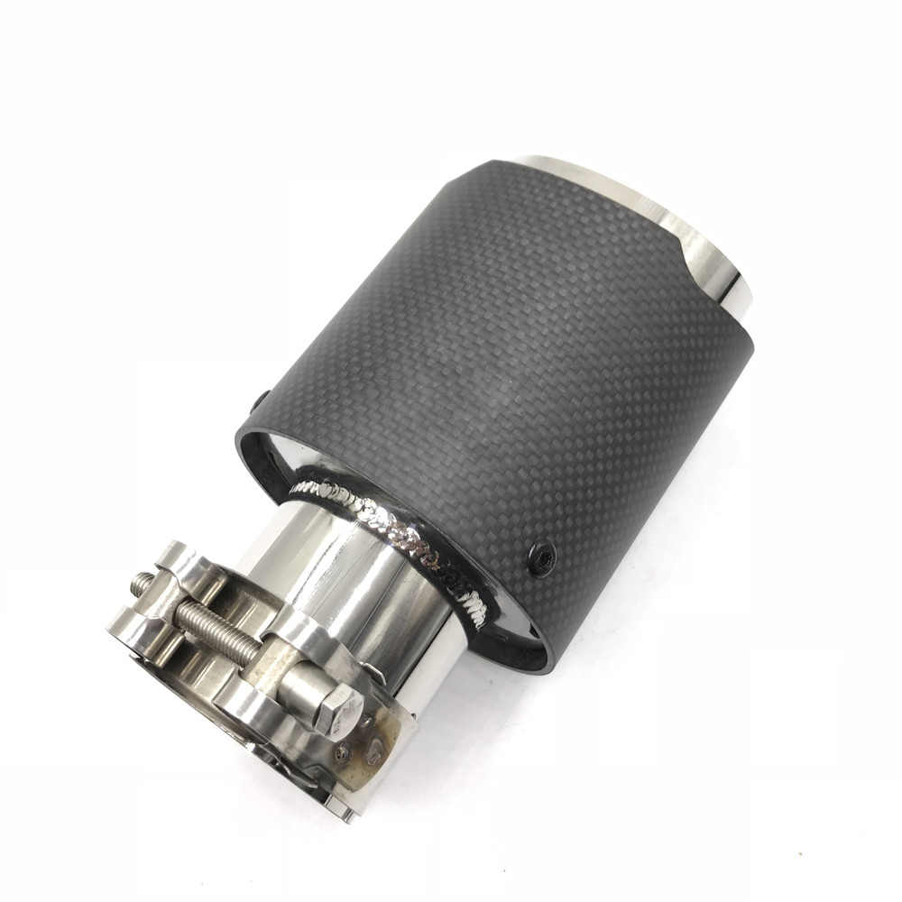 76MM OUTLET TE MULTI-INLET SIZE Ak Matt Carbon Fiber Uitlaat Tips rvs AUTO MODIFIDE UITLAAT pijp