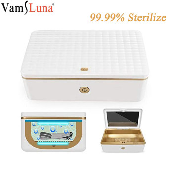 UV Sterilizer Box with Ozone LED UV Light Disinfection Cleaning Device with Germicidal light for Watch Phone Mask Sanitizer