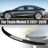 Auto Carbon Fiber Tail Wing Rear Spoiler Trunk Wings Car Tail Wing Decoration Car Styling for Tesla Model 3 (2017 2019)