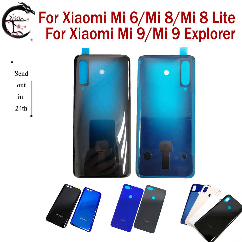 <font><b>Battery</b></font> <font><b>Cover</b></font> For <font><b>Xiaomi</b></font> <font><b>Mi</b></font> 6 <font><b>8</b></font> Lite 9 Explorer Phone Glass Back <font><b>Cover</b></font> Mi6 Mi8 Mi8Lite Mi9 9Explorer <font><b>Battery</b></font> Housing Replacement image