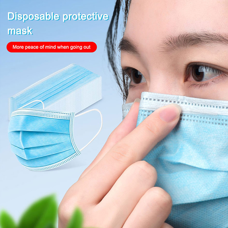 40pcs High Quality 3 Layers Protective Masks Prevent Anti Dusts Pollution Bad Smell Protection Disposable Face Mouth Masks
