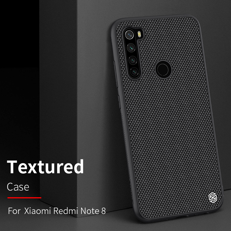 For Xiaomi Redmi Note 8 Note8 Back Cover Nillkin Hard PC + Soft TPU Nylon Fiber Anti fingerprint Phone Cases Matte Frosted Case Fitted Cases     - title=