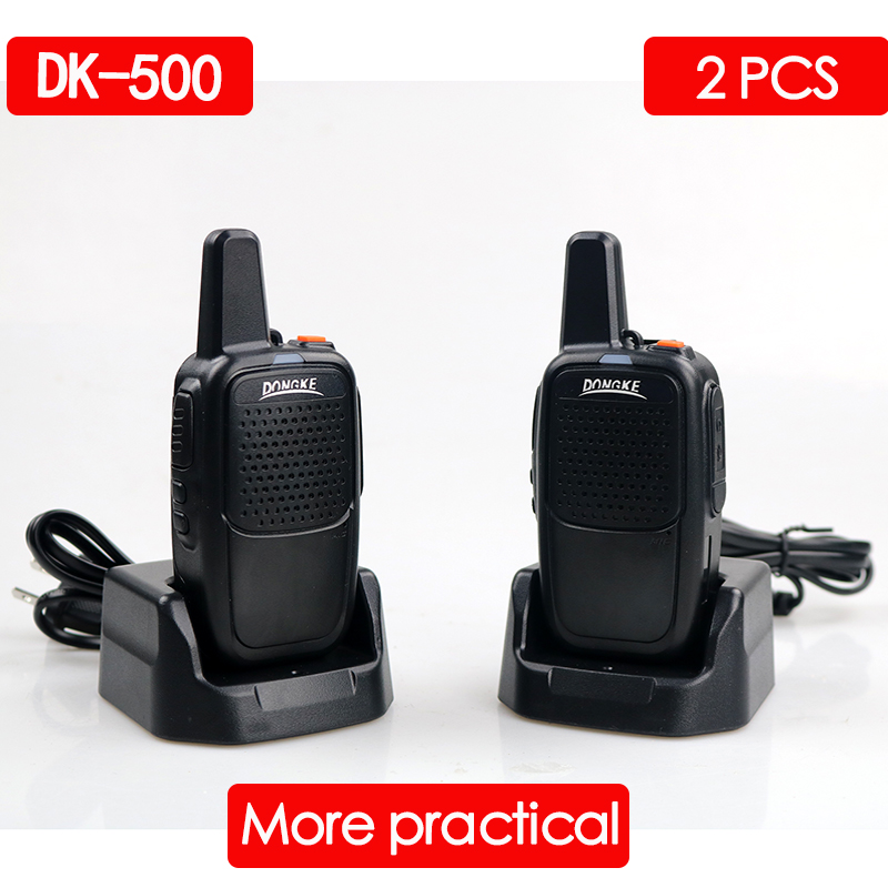 2PCS DONGKE 500 Two Way Radio Powerful Walkie Talkie 5W Portable CB Ham Radio Handheld HF Transceiver Interphone Walkie-talkies