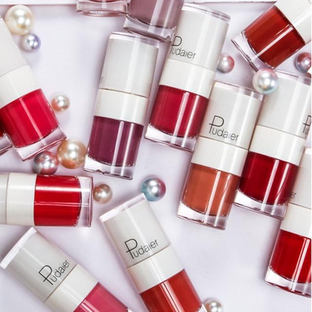 Pudaier 16Color Nude Matte Lipstick Waterproof Liquid Lipstick Long Lasting Moisturizer Women Red Lip Stick Tint Makeup Cosmetic 5