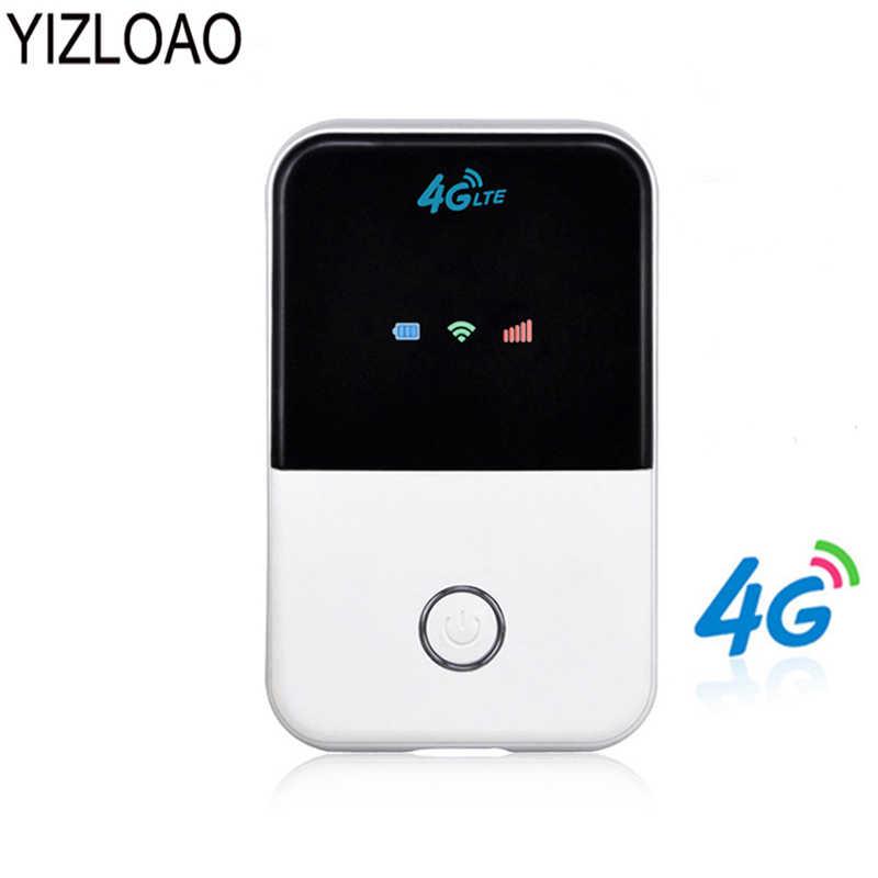 YIZLOAO 4G Wifi роутер мини роутер 3G 4G Lte Беспроводной Портативный Карманный wi-fi Мобильный Hotspot автомобильный wi-fi роутер с слотом для sim-карты