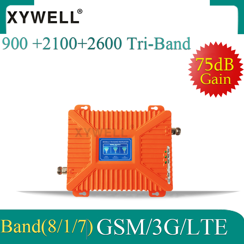 900/2100/2600 Mhz 4G Signal Booster 2g 3g 4g Cellular Amplifier GSM 900 WCDMA 2100 FDD LTE 2600 Cell Phone Signal Repeater