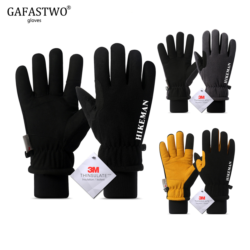 New Mens Winter Ski Gloves Womens Super Warm Touch Screen Windproof Outdoor Sports Thinsulate Fashion Thicken Lamb Gloves