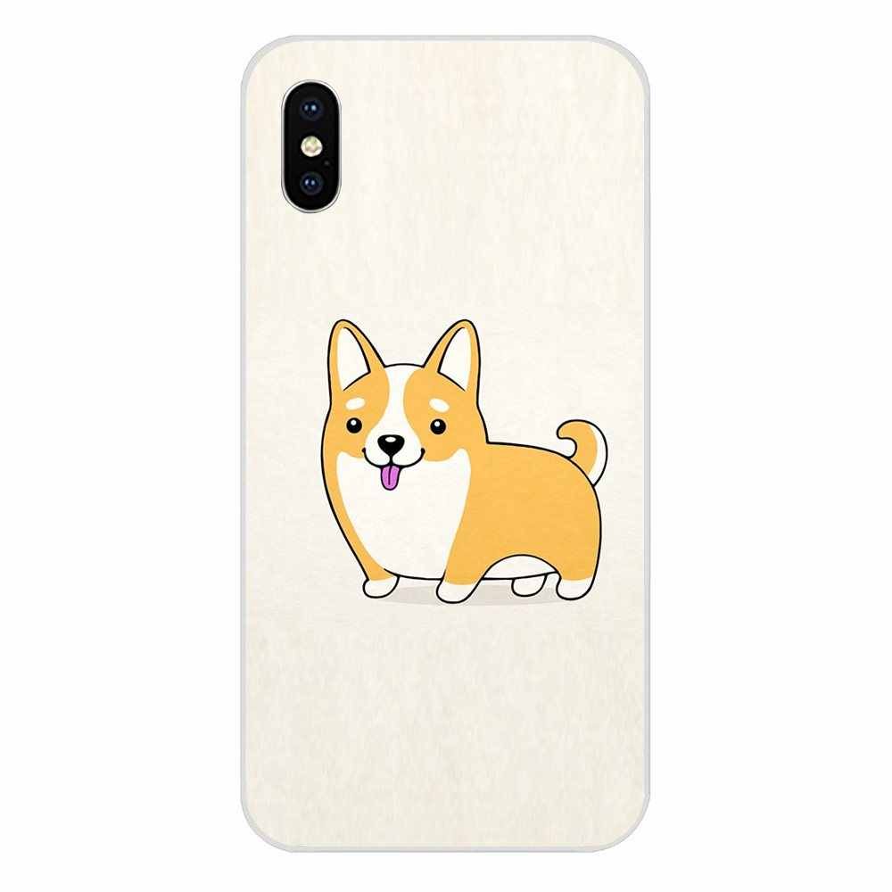Cute Cartoon Corgi Welsh Corgi Dog TPU Stampa Per Huawei Honor 4C 5A 5C 5X6 6A 6X7 7A 7C 7X8 8C 8S 9 10 10i 20 20i Lite Pro