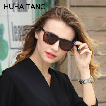 HUHAITANG 2019 Vintage Square Men Sunglass Mens Driving Sunglasses Women Brand Designer Luxury Oversized Sun Glasses Womens 1