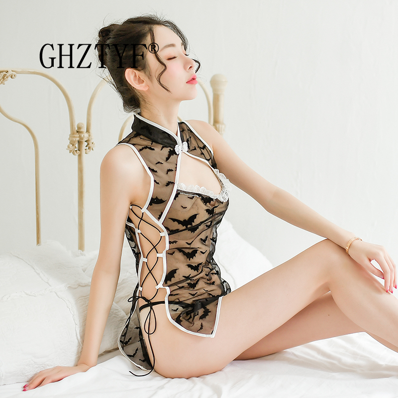 Lingerie Sexy Hot Erotic for Women <font><b>Chinese</b></font> Style Cheongsam Underwear for <font><b>Sex</b></font> Babydoll Maid Night <font><b>Dress</b></font> Cosplay Costumes image