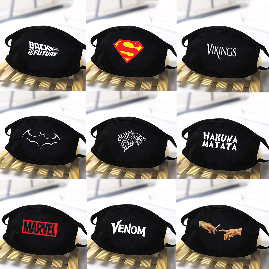 Superhero Marvel Print Anti-Dust Masks Women/Mens High Quality Windproof Reusable Masque Washable Soft Face Masks Mouth Muffle