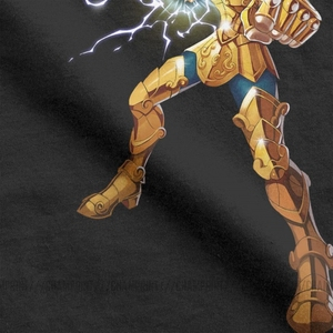Image 4 - Neuheit Leo Constelacion T Shirt Männer Baumwolle T Shirt Ritter von die Sternzeichen Saint Seiya 90s Anime Kurzarm Tees plus Größe Tops