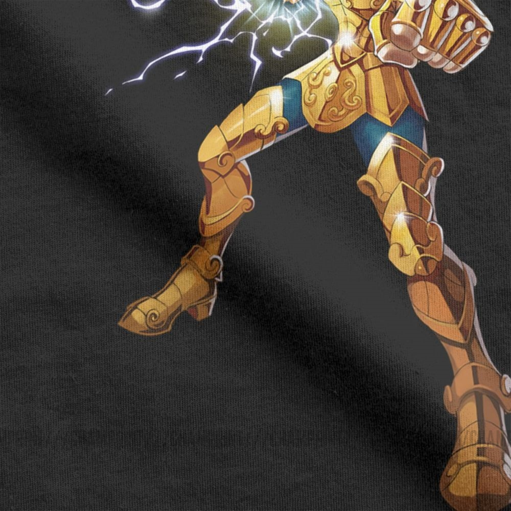 Image 4 - Novelty Leo Constelacion T Shirt Men Cotton T Shirt Knights of the Zodiac Saint Seiya 90s Anime Short Sleeve Tees Plus Size TopsT-Shirts   -