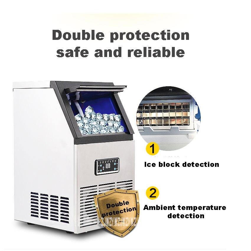 Ev Aletleri'ten Buz Makineleri'de Ticari Yüksek güç Bar KTV Ev Otomatik Buz Makinesi Boyutu Çay Dükkanı Buz Makinesi 220 V/110 V 200W SK 40FF title=