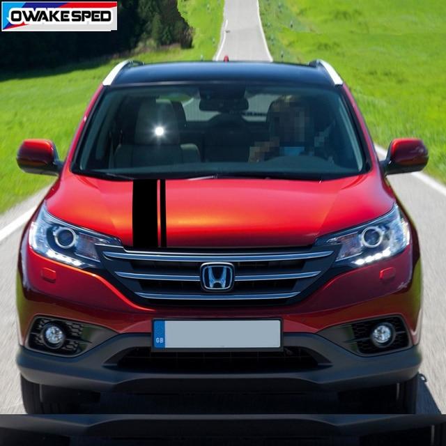 Car Hood Bonnet Sticker Auto Engine Cover Decor Vinyl Decal For Honda-CR-V SUV Racing Sport Stripes Limited Edition 5