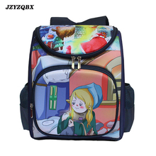 The Little Match Girl School Bag Multi Pocket Backpack Childrens mochila For Girls
