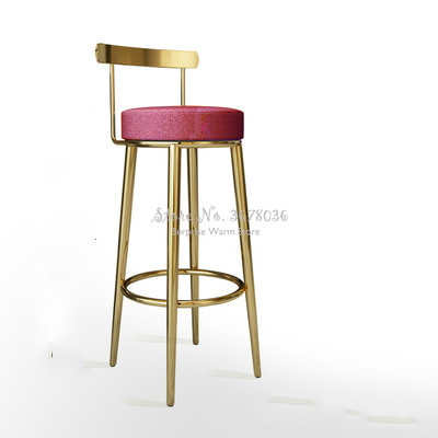Customizable Bar Chair Nordic Bar Stools Cashier Stools Back Bar Stools Home Simple High Chair Fashion Creative Dining Chair