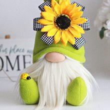 Bumble Bee çizgili cüce bebek Nagasu Gnome İskandinav Tomte Nisse İsveç dünya arı/gün ayçiçeği Elfs ev dekor