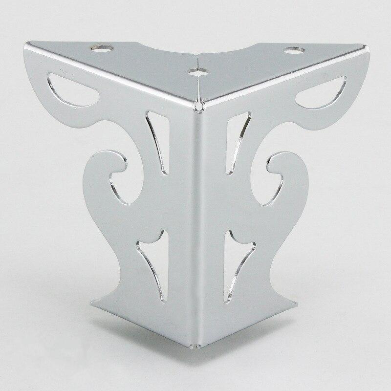 4pcs Hardware Metal Furniture Legs Hollow Sofa Foot Pattern Black For TV Cabinet Legs Support Furniture Corner Protectors Metal