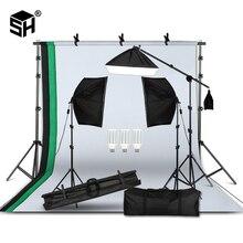 طقم معدات الإضاءة التصوير الفوتوغرافي المهنية مع صندوق لينة خلفية الوقوف مع ذراع بوم الخلفيات ضوء استوديو الصور