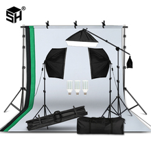 Fotografia professionale Apparecchi di Illuminazione Kit con Softbox sfondo Morbido del basamento con boom arm Fondali Luce Photo Studio