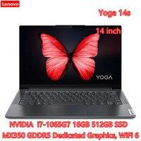 Lenovo-ordenador portátil Yoga Serie 14s 7, con 10. ª generación, i7, MX350, gráficos dedicado, 16GB de Ram, 512GB SSD, WiFi, 6 typc-c, cuerpo de Metal