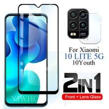 2w1 M2002J9G dla Xiaomi Mi 10 Lite szkło ochronne Mi10 młodzieży 10lite światło 5g Mi10lite ochraniacz ekranu hartowane obiektyw aparatu