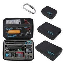 ポータブルキャリー収納袋保護ケースボックス 3 サイズハンドバッグ移動プロヒーロー 8 7 6 5 4 3 xiaomi 李 sjcam アクセサリーカメラバッグ