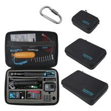 Tragbare Carry Lagerung Tasche Schutzhülle Box 3 Größe Handtasche Für GoPro Hero 8 7 6 5 4 3 Xiaomi YI Sjcam Zubehör Kamera Tasche
