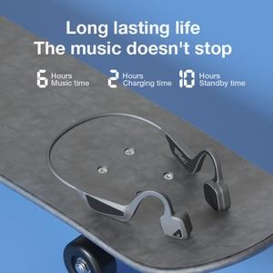 Image 2 - SANLEPUS V10 auriculares de conducción ósea inalámbricos, Auriculares deportivos de oreja abierta, HD, para llamadas, a prueba de agua IPX6, para correr, BT 5,0