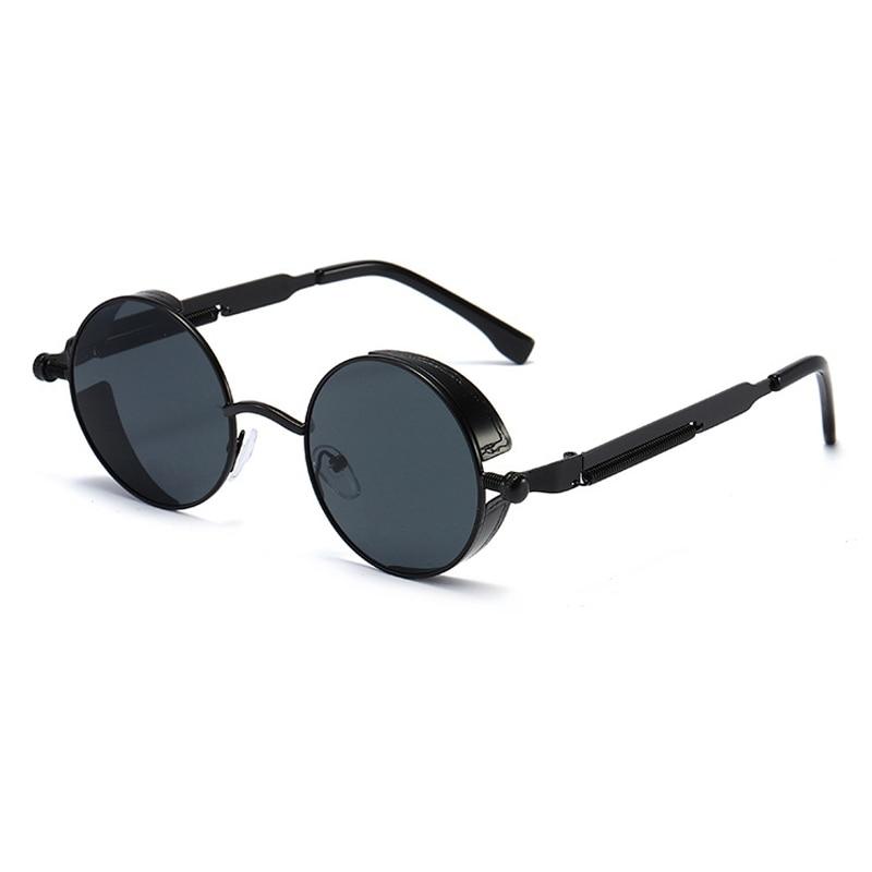 KEEPIONEER Round Punk Sunglasses Men Gothic Steampunk Circle Sun Glasses Male Sunglass Vintage Eyeglasses Circular Brand Design