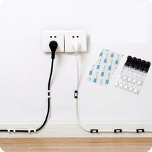 20 шт/пакет сматывания шнура Офис Органайзер провода струбцина