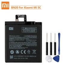 シャオマイルオリジナル交換バッテリーBN20 xiaomi mi 5C M5C本物電話バッテリー2860mah