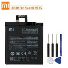 Xiao Mi BN20 del Rimontaggio Originale Della Batteria Per Xiaomi Mi 5C M5C Autentico Batteria Del Telefono 2860mAh