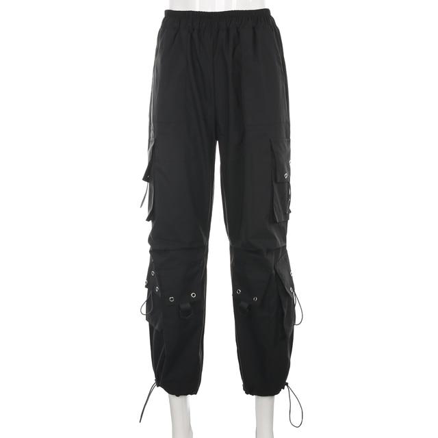 Streetwear Loose Black Cargo Pants  5