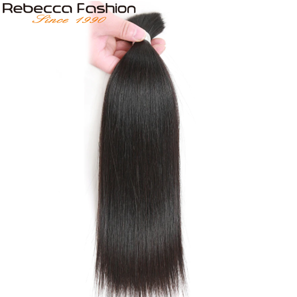 Rebecca Natural Color Indian Hair Weave Bundles Human Hair Bulk For Braiding Remy Straight Braids Hair 3 Bundles Free Shipping