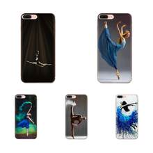 Beautiful Ballerina Custom Photo For Apple iPhone 11 Pro X XS Max XR 4 4S 5 5C 5S SE 6 6S 7 8 Plus Soft Skin Paintin(China)