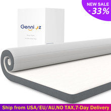 10cm Thickness Gel Memory Foam Mattress Topper with Removable Hypoallergenic Cover High Density Ergonomic Bed Foam Bedroom Pad